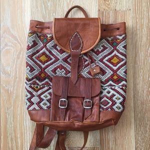 Free People style moroccan backpack